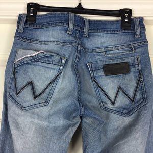 e0e81bfb Wrangler Jeans - Vintage Wrangler Distressed Rockville Jeans 30